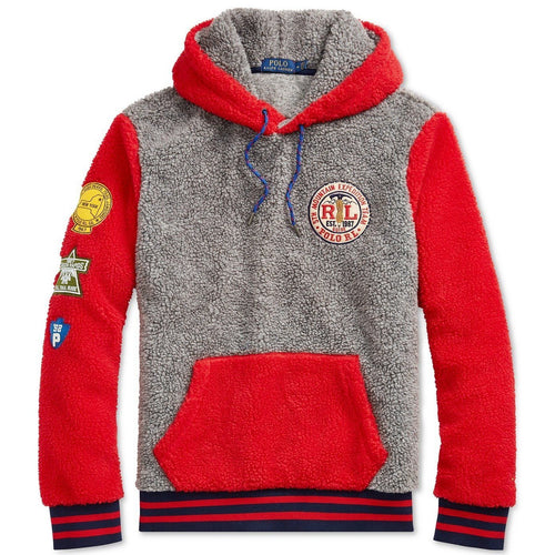 POLO RALPH LAUREN Great Outdoors Color-blocked Fleece Sweatshirt, Dark Vintage Multi-OZNICO