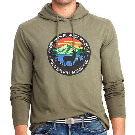 POLO RALPH LAUREN Great Outdoors Color-blocked Fleece Sweatshirt, Dark Vintage Multi