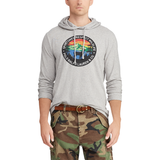 POLO RALPH LAUREN Great Outdoors Jersey Hooded T-Shirt, Salt and Pepper Heather-OZNICO