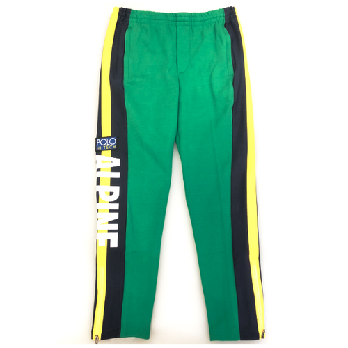 POLO RALPH LAUREN Hi Tech Alpine Double-Knit Sweatpants, Green/ Multi-OZNICO