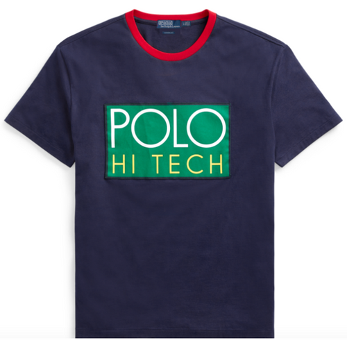 POLO RALPH LAUREN Hi Tech Classic Fit T-Shirt, Navy-OZNICO
