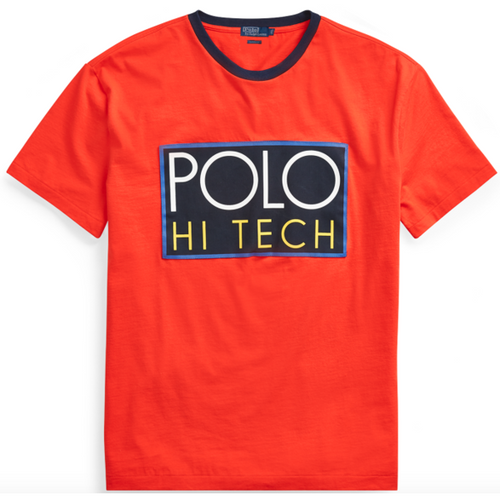POLO RALPH LAUREN Hi Tech Classic Fit T-Shirt, Orange-OZNICO