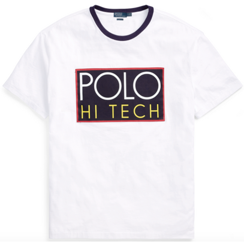 POLO RALPH LAUREN Hi Tech Classic Fit T-Shirt, White-OZNICO