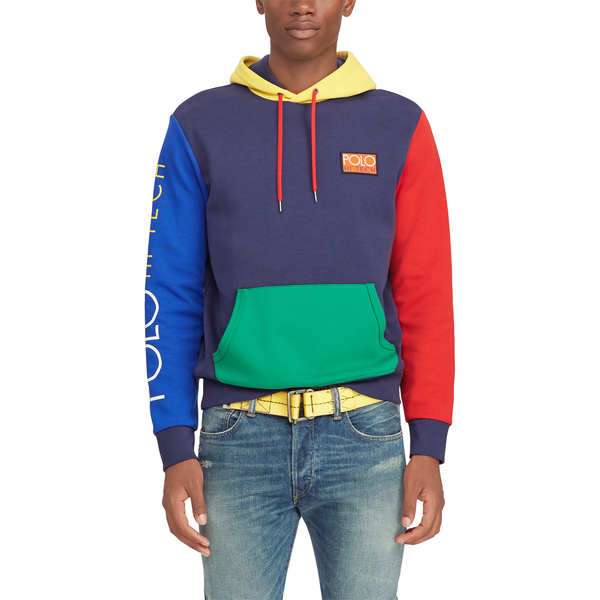 POLO RALPH LAUREN Hi Tech Color-Blocked Hoodie, Navy Multi-OZNICO