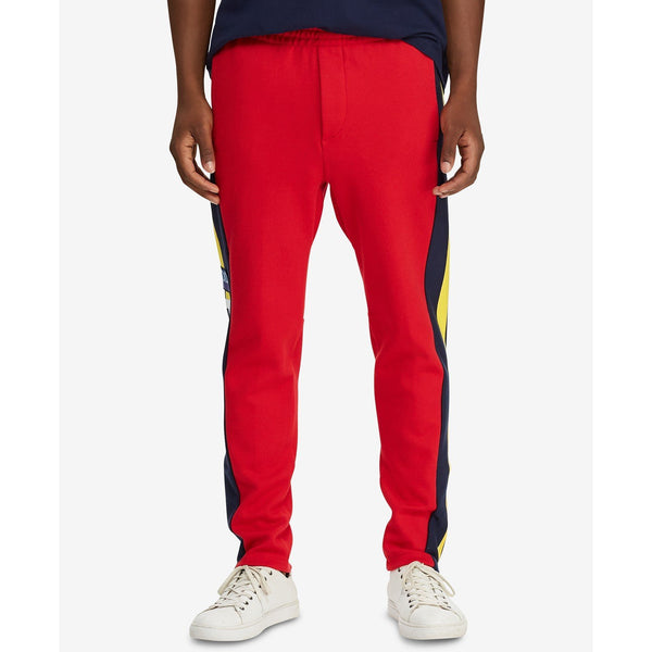 POLO RALPH LAUREN Hi Tech Double-Knit Sweatpants, Red/ Multi-OZNICO
