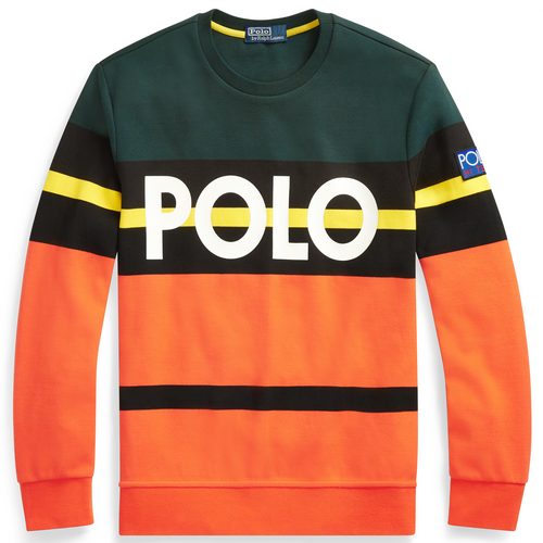 POLO RALPH LAUREN Hi Tech Double-Knit Sweatshirt, College Green/ Bittersweet-OZNICO
