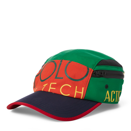 POLO RALPH LAUREN Hi Tech Side-Pocket Hat, Green/ Multi-OZNICO