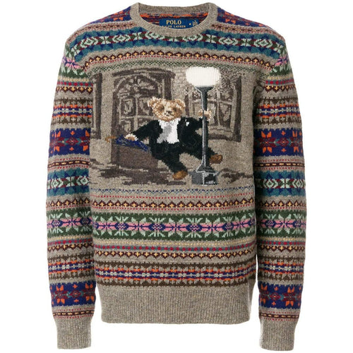 POLO RALPH LAUREN Iconic Bear Isle Sweater, Multicolor-OZNICO