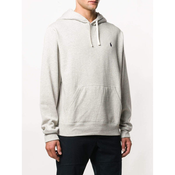 POLO RALPH LAUREN Logo Embroidered Hoodie, Grey-OZNICO