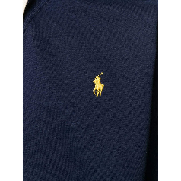 POLO RALPH LAUREN Logo Embroidered Hoodie, Navy-OZNICO