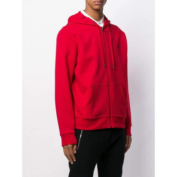 POLO RALPH LAUREN Logo Embroidered Hoodie, Red-OZNICO