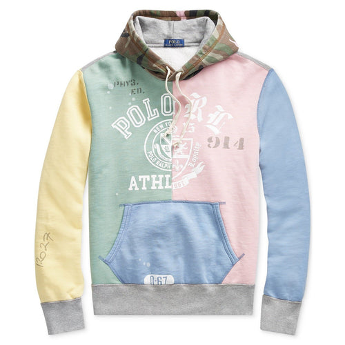 POLO RALPH LAUREN Logo Graphic Hoodie, Patchwork-OZNICO