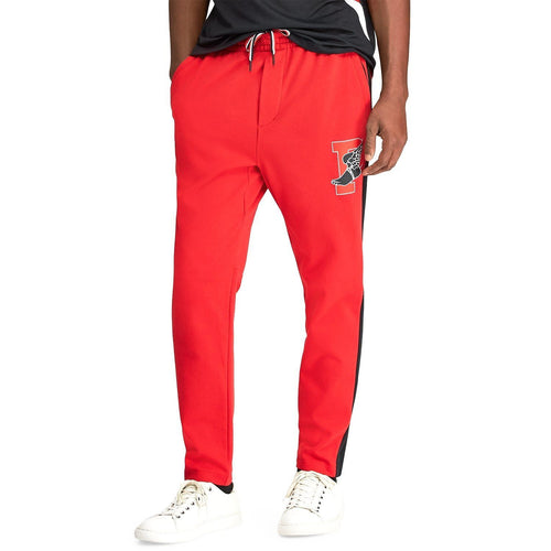POLO RALPH LAUREN P-Wing Cotton Interlock Active Pants, Red-OZNICO