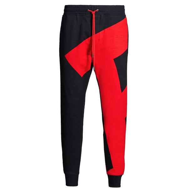 POLO RALPH LAUREN P-Wing Double-Knit Graphic Jogger Pants, Black-OZNICO