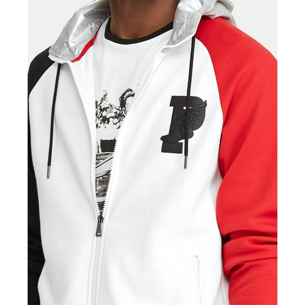 POLO RALPH LAUREN P-Wing Double-Knit Hoodie, White-OZNICO