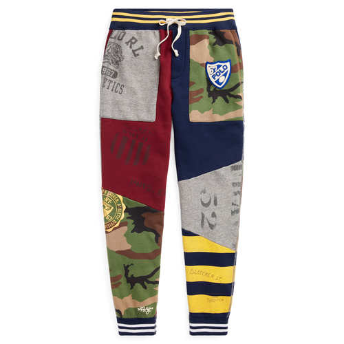 POLO RALPH LAUREN Patchwork Fleece Jogger, Classic Wine Multi-OZNICO