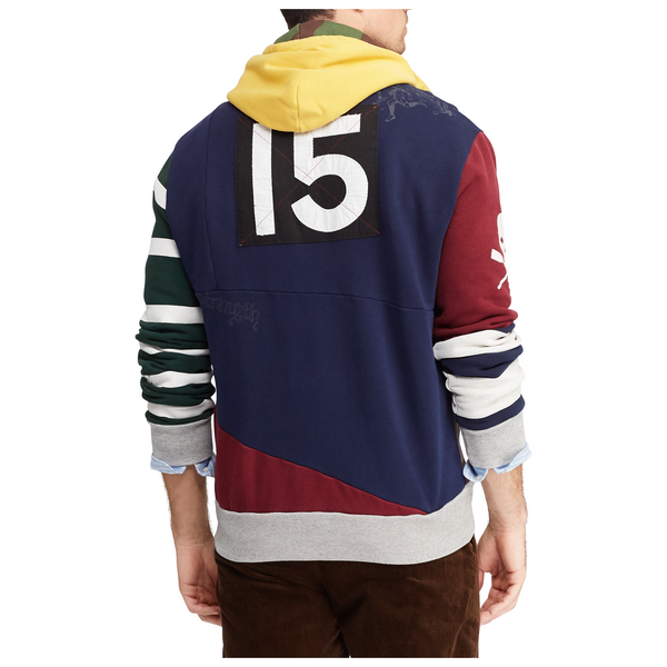 1101fd60 ... POLO RALPH LAUREN Patchwork Rugby Hoodie, Multi-OZNICO ...