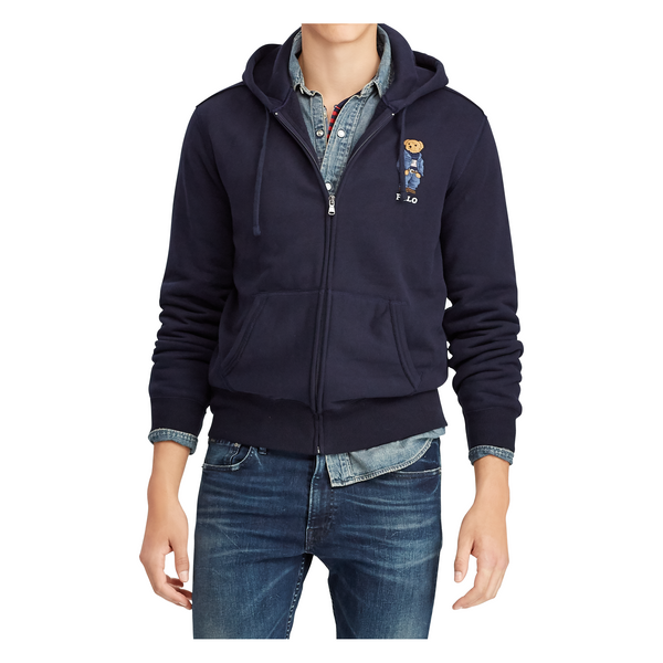 POLO RALPH LAUREN Polo Bear Fleece Hoodie, Aviator Navy-OZNICO