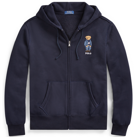 POLO RALPH LAUREN CP-93 Double-Knit Hoodie, Blue