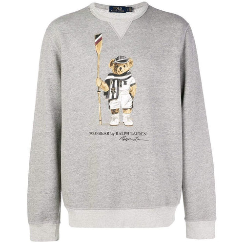 POLO RALPH LAUREN Polo Bear Fleece Sweatshirt, Grey-OZNICO