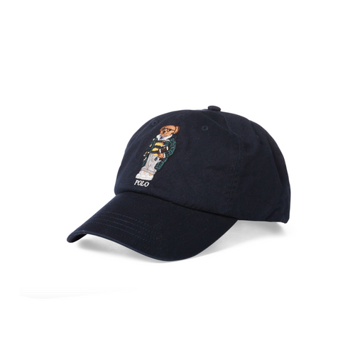 POLO RALPH LAUREN Preppy Bear Chino Cap, Navy-OZNICO