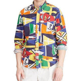 POLO RALPH LAUREN Printed Oxford Long-Sleeve Woven Shirt,-OZNICO