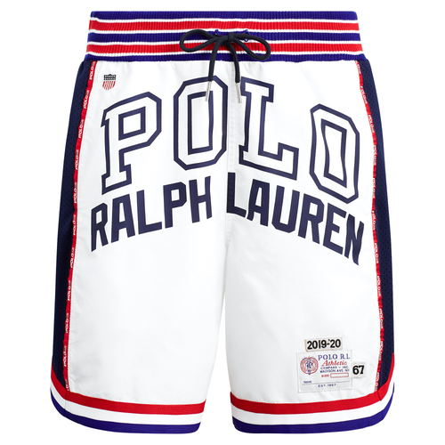 POLO RALPH LAUREN Relaxed Fit Athletic Shorts, White-OZNICO
