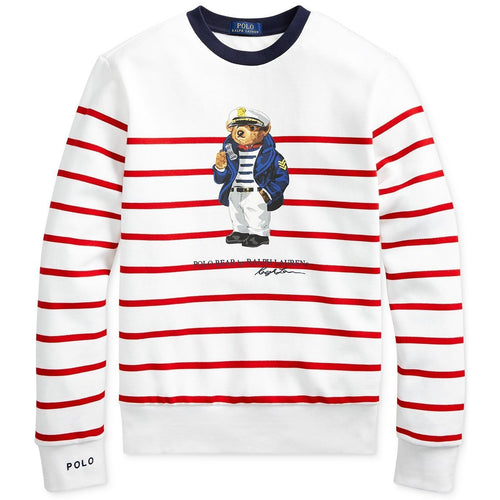 POLO RALPH LAUREN Sailor Bear Sweatshirt, White-OZNICO