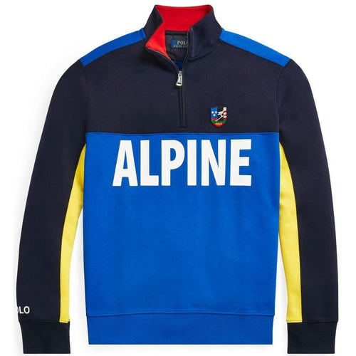 POLO RALPH LAUREN Ski Double Knit Tech Pullover, Blue-OZNICO
