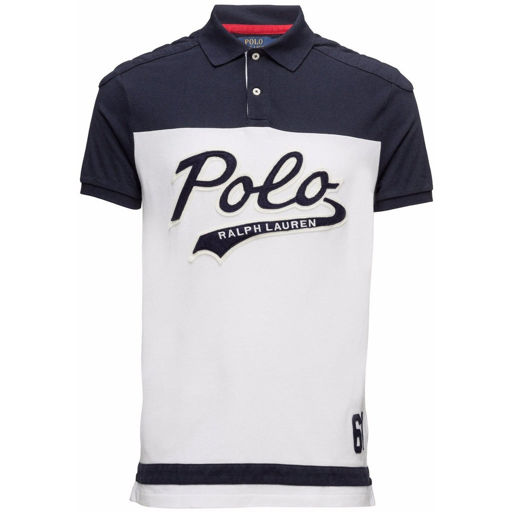 a15fd4f3 POLO RALPH LAUREN Slim Fit Polo Shirt, White/ Navy – OZNICO