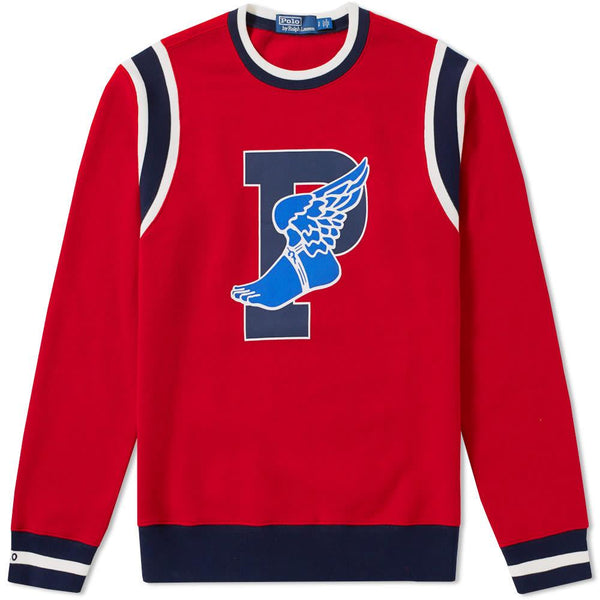 POLO RALPH LAUREN Stadium P-Wing Crewneck, Ralph Red-OZNICO