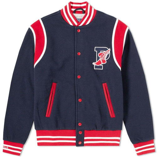 POLO RALPH LAUREN Stadium P-Wing Fleece Bomber, Aviator Navy-OZNICO