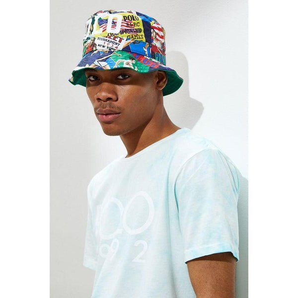 POLO RALPH LAUREN Twill Chariots Of Fire Bucket Hat, Multi-OZNICO