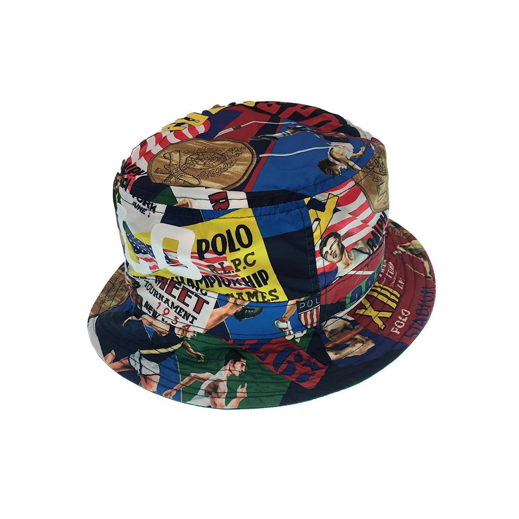 8d46a467 POLO RALPH LAUREN Twill Chariots Of Fire Bucket Hat, Multi – OZNICO