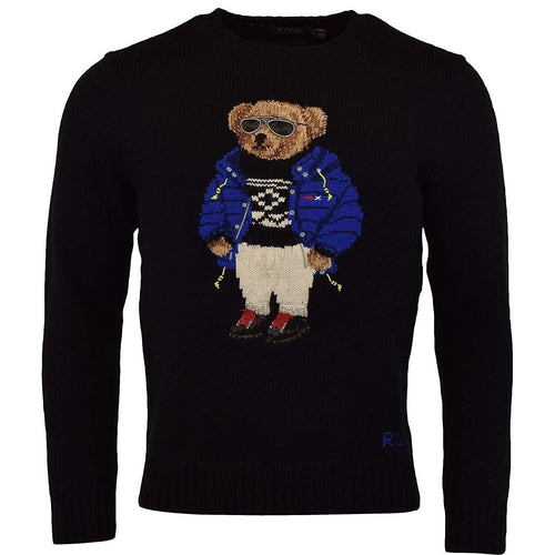 POLO RALPH LAUREN Wool Blend Bear Sweater, Black-OZNICO