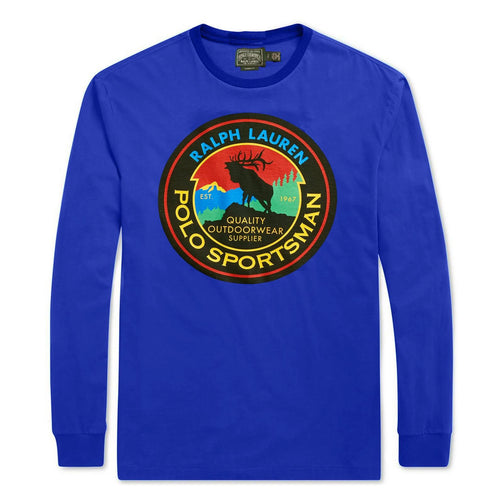 POLO RALPH LAUREN Sportsman Long Sleeve T-Shirt, Blue