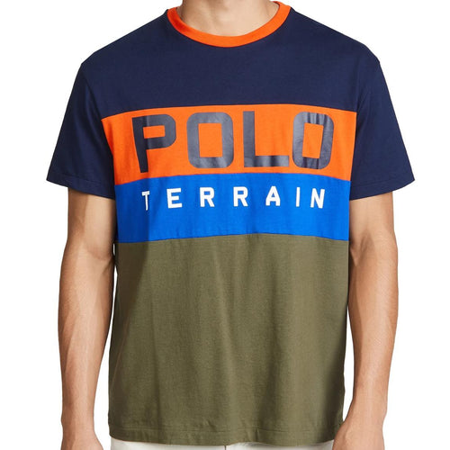 POLO RALPH LAUREN Polo Terrain Colorblock Short Sleeve T-Shirt, Navy/ Multi