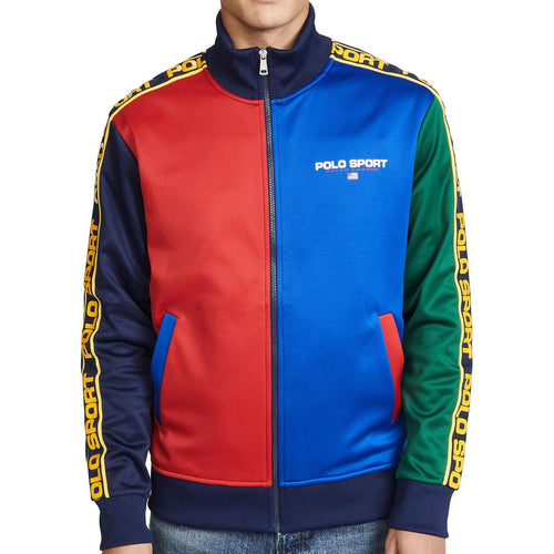 POLO RALPH LAUREN Polo Sport Colorblock Track Jacket, Navy/ Multi