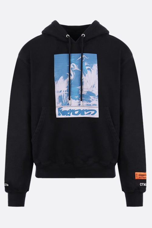 HERON PRESTON HERONS CAPTHCA HOODY, BLACK