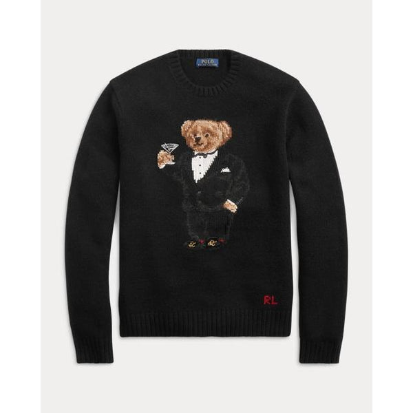 POLO RALPH LAUREN Martini Bear Wool Sweater, Black