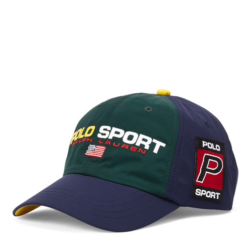POLO RALPH LAUREN Polo Sport Nylon Cap, College Green/ Cruise Navy
