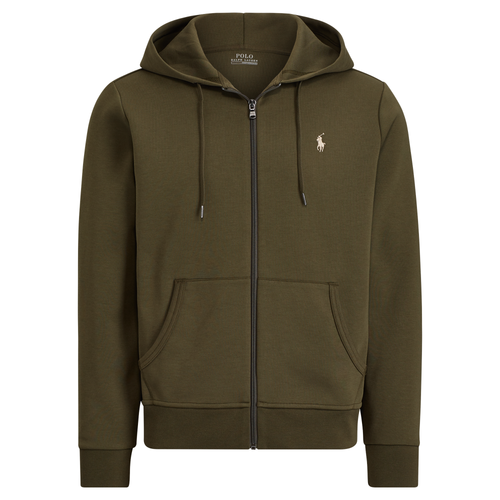 POLO RALPH LAUREN Double-Knit Full-Zip Hoodie, Company Olive