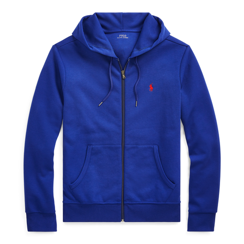 POLO RALPH LAUREN Double-Knit Full-Zip Hoodie, Blue