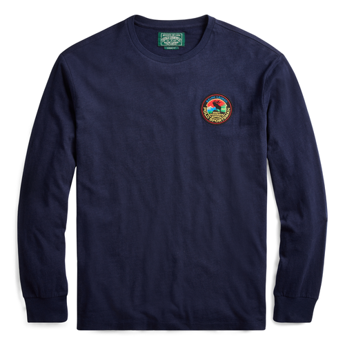POLO RALPH LAUREN Classic Fit Sportsman Long Sleeve T-Shirt, Cruise Navy
