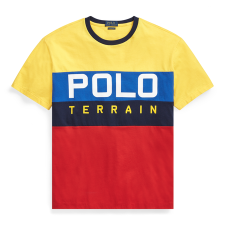 POLO RALPH LAUREN Custom Slim Fit Mesh Polo, Canary Yellow/ Multi