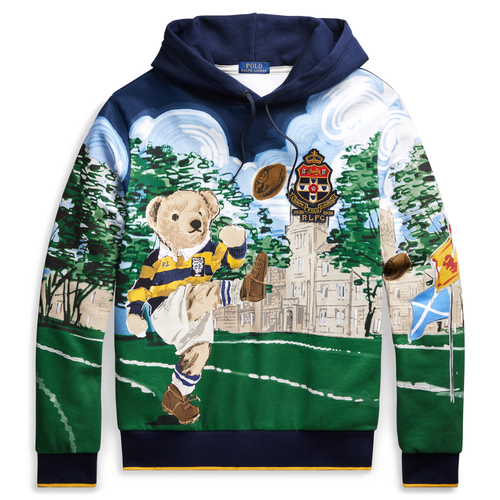 POLO RALPH LAUREN Kicker Bear Hoodie, All Over Bear Print
