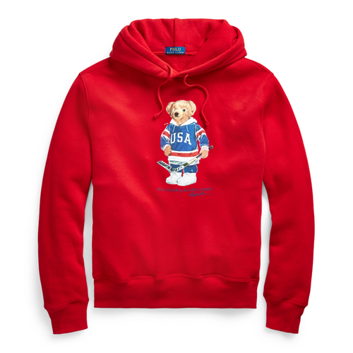 POLO RALPH LAUREN Polo Hockey Bear Hoodie, Red