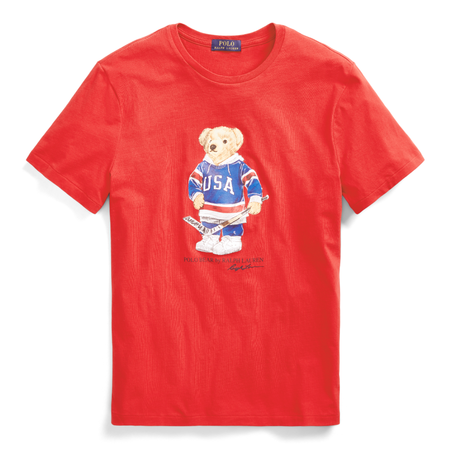 POLO RALPH LAUREN Classic Fit Ski Bear T-Shirt, White