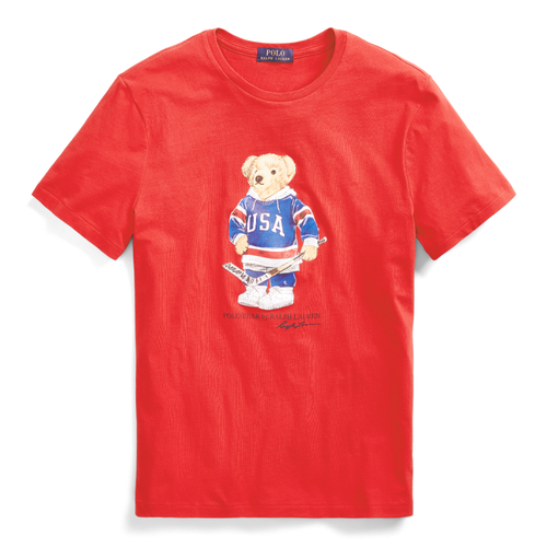 POLO RALPH LAUREN Custom Slim Fit Bear T-Shirt, RL 2000 Red