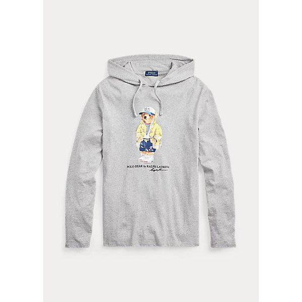POLO RALPH LAUREN CP-93 Bear Hooded T-Shirt, Heather Grey